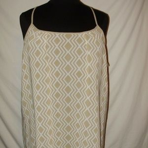 ANA A New Approach 3X Tan White Dress A2